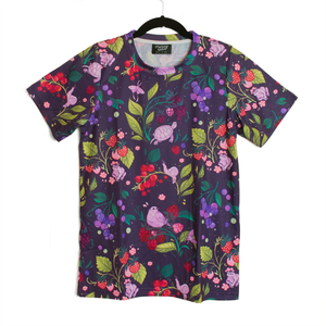 Secret Garden: Berry Critters Patterned T Shirt