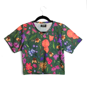 Secret Garden: Bee & Wildflowers Crop Top
