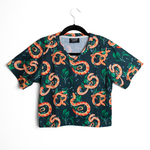 Corn Snake Crop Top