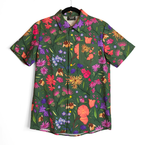Secret Garden: Bee & Wildflowers Button Down Shirt