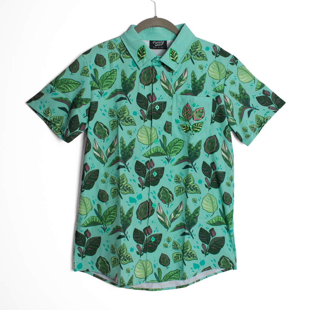 [PREORDER] Calathea Embroidered Button Down Shirt