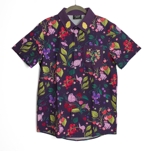 [PREORDER] Secret Garden: Berry Critters Embroidered Button Down Shirt