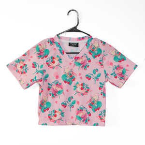 Strawberry Tiel Crop Top