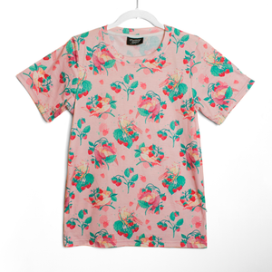 Strawberry Tiel Patterned T Shirt