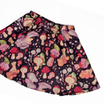 Secret Garden: Mushroom & Frog Mini Skirt