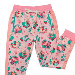 Strawberry Tiel Jogger Pants