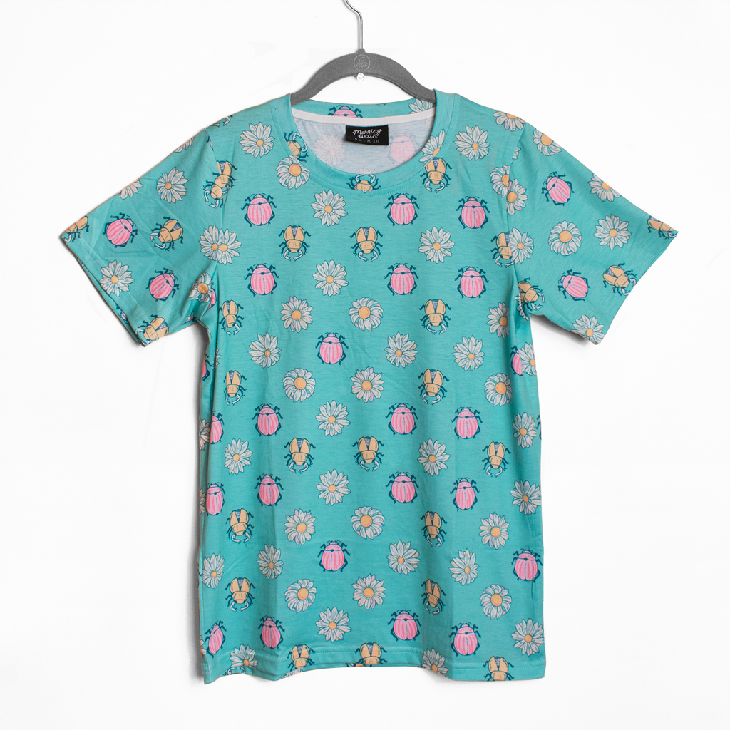 Beetle + Daisy Patterned T Shirt