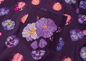 Beetle + Violet Embroidered Button Down Shirt