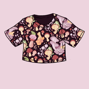 [SUMMERFALL PREORDER] Secret Garden: Mushroom & Frog Crop Top