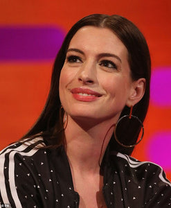 Anne Hathaway Wears Selene Two Tone Earrings