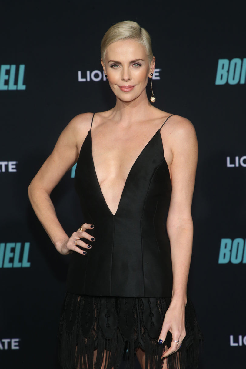 CHARLIZE THERON WEARS VALENTINA LOBE CUFFS AS A RING
