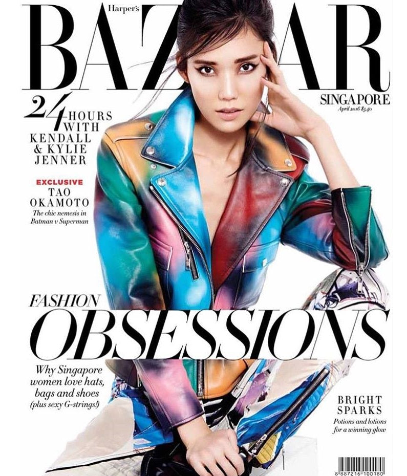 THE MINI TITAN THEA TWO TONE CRYSTAL BRACELET FEATURED IN THE APRIL ISSUE OF HARPER'S BAZAAR SINGAPORE
