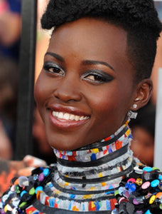 LUPITA NYONG'O WEARS THE DOUBLE CUBO CRYSTAL EARRING
