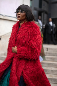 Naomi Campbell Wears Bordeaux