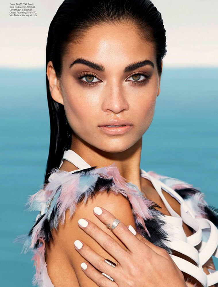 The Lia Crystal Ring featured in the January issue of Harper's Bazaar Arabia