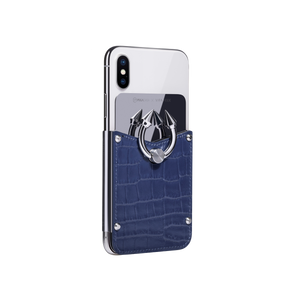 Titan Ring iPhone Case - Bleu Croco