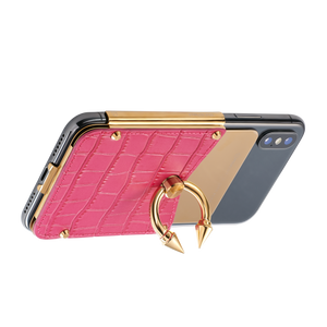 Titan Ring iPhone Case - Fuchsia Gold