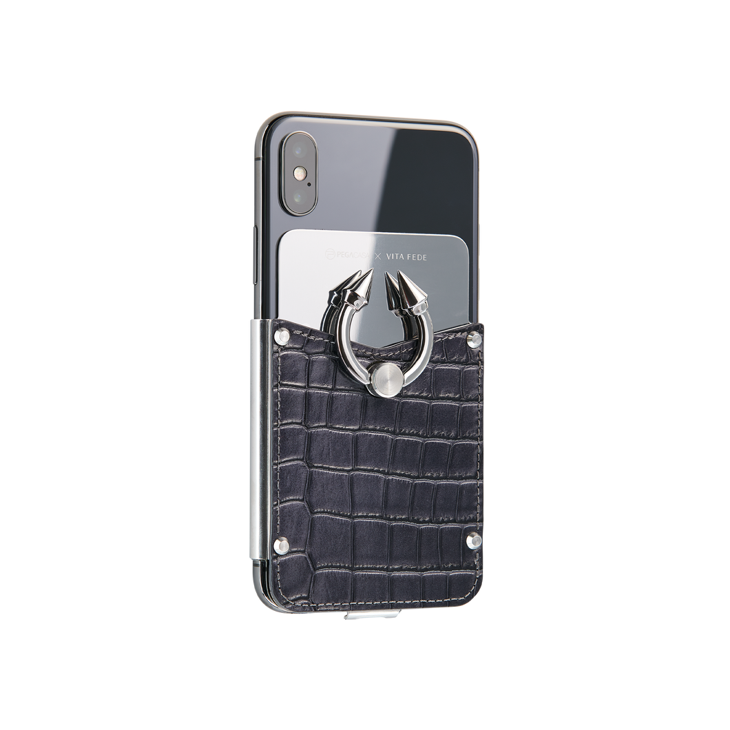 Titan Ring iPhone Case - Midnight Silver