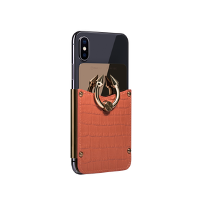 Titan Ring iPhone Case - Orange Croco