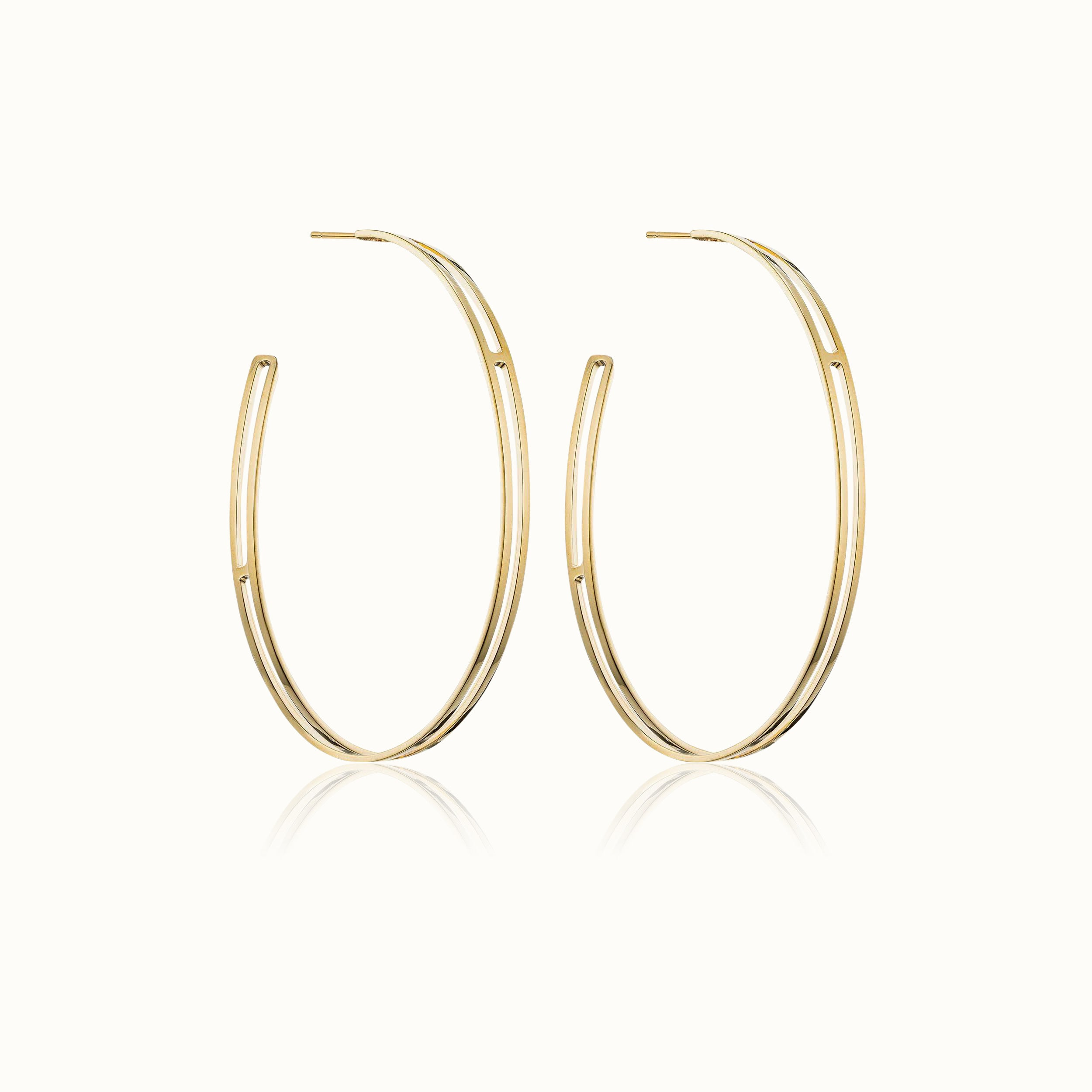 Alessio Hoop Earrings 3.25