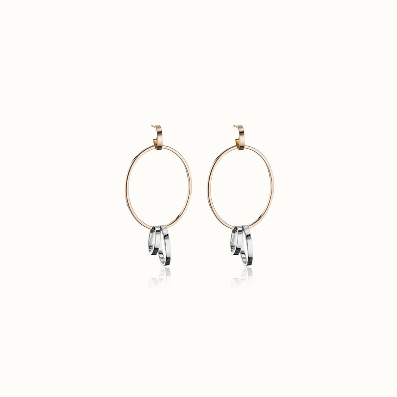 Cassio Two Tone Earrings