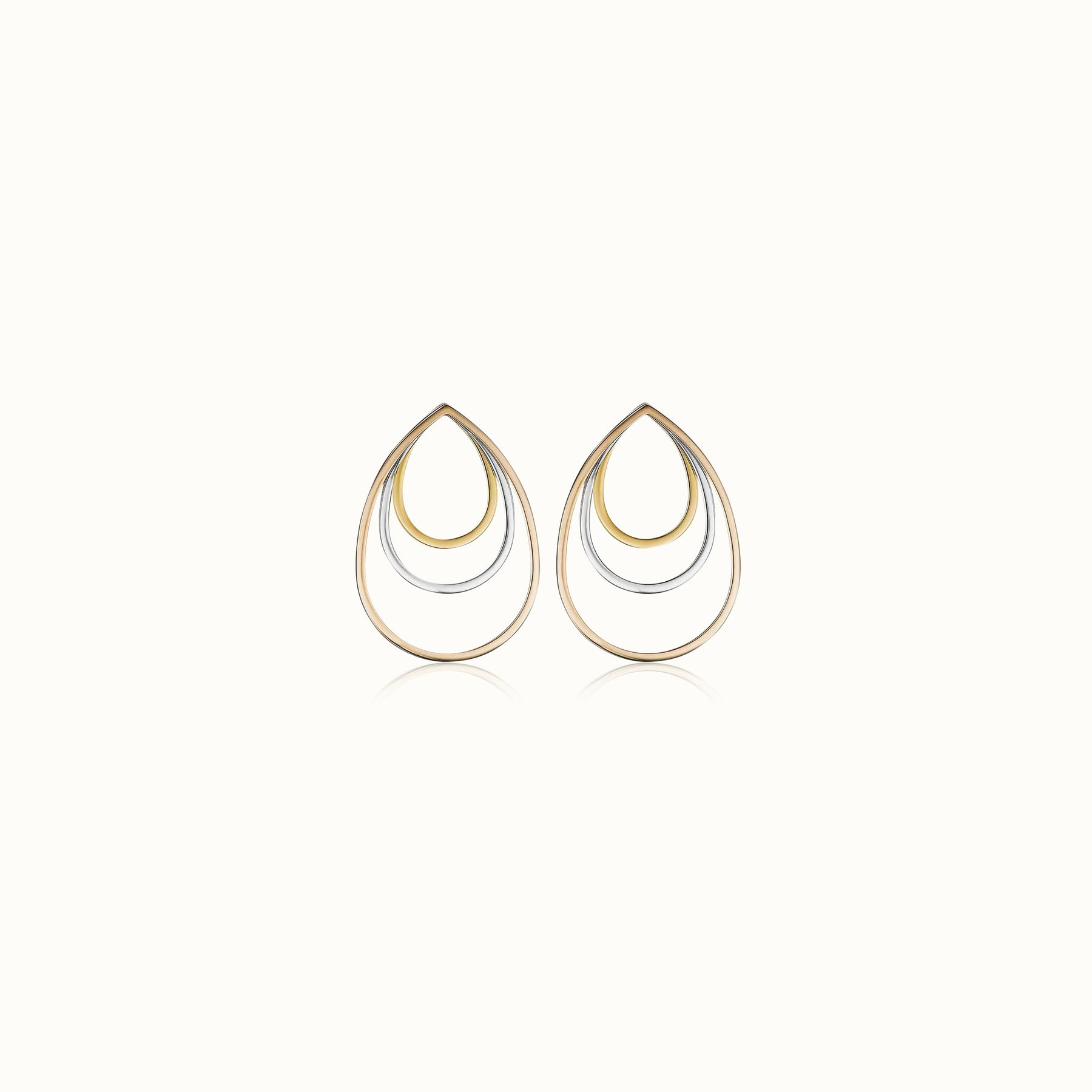 Sophia Tre Tone Earrings