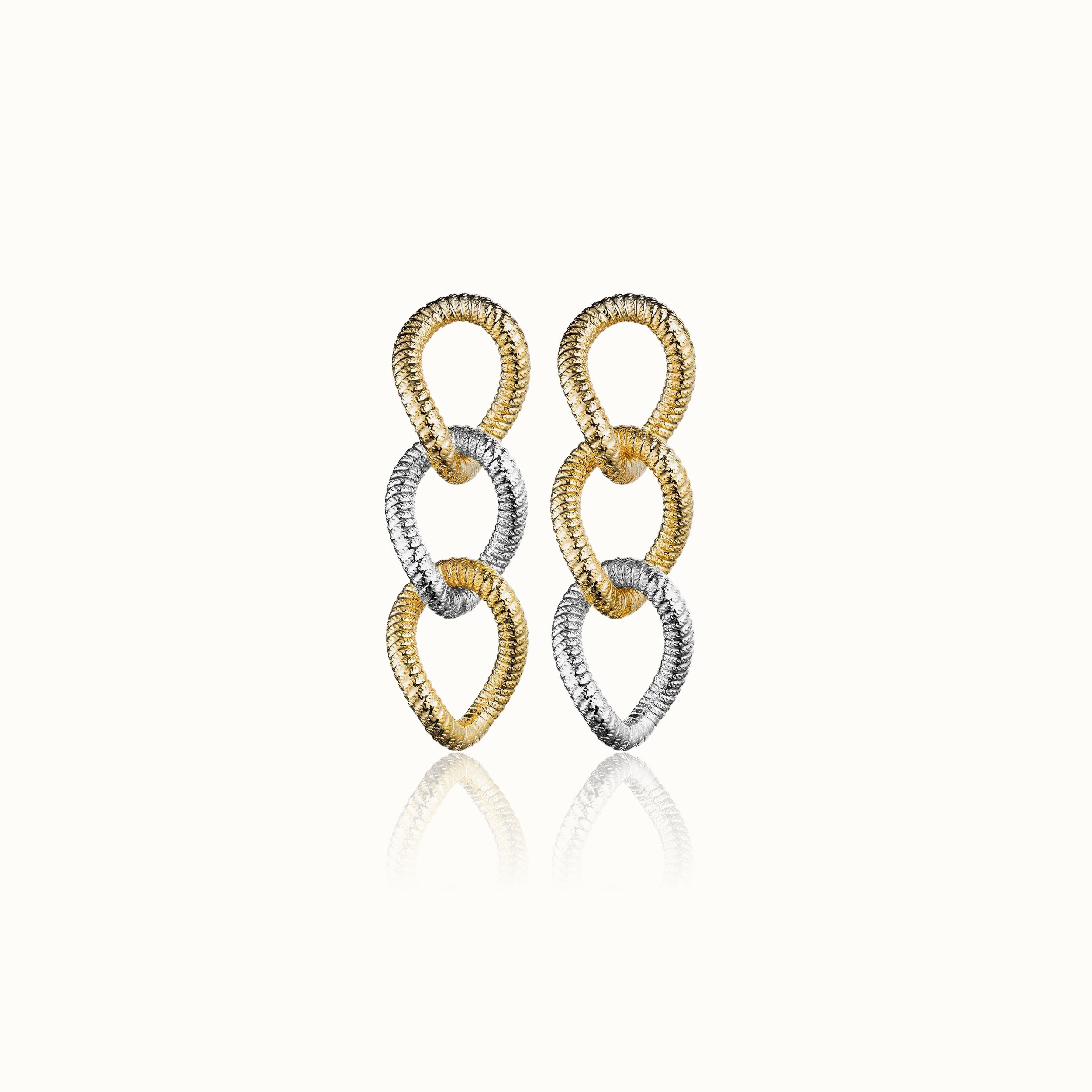 Raffina Two Tone Earrings