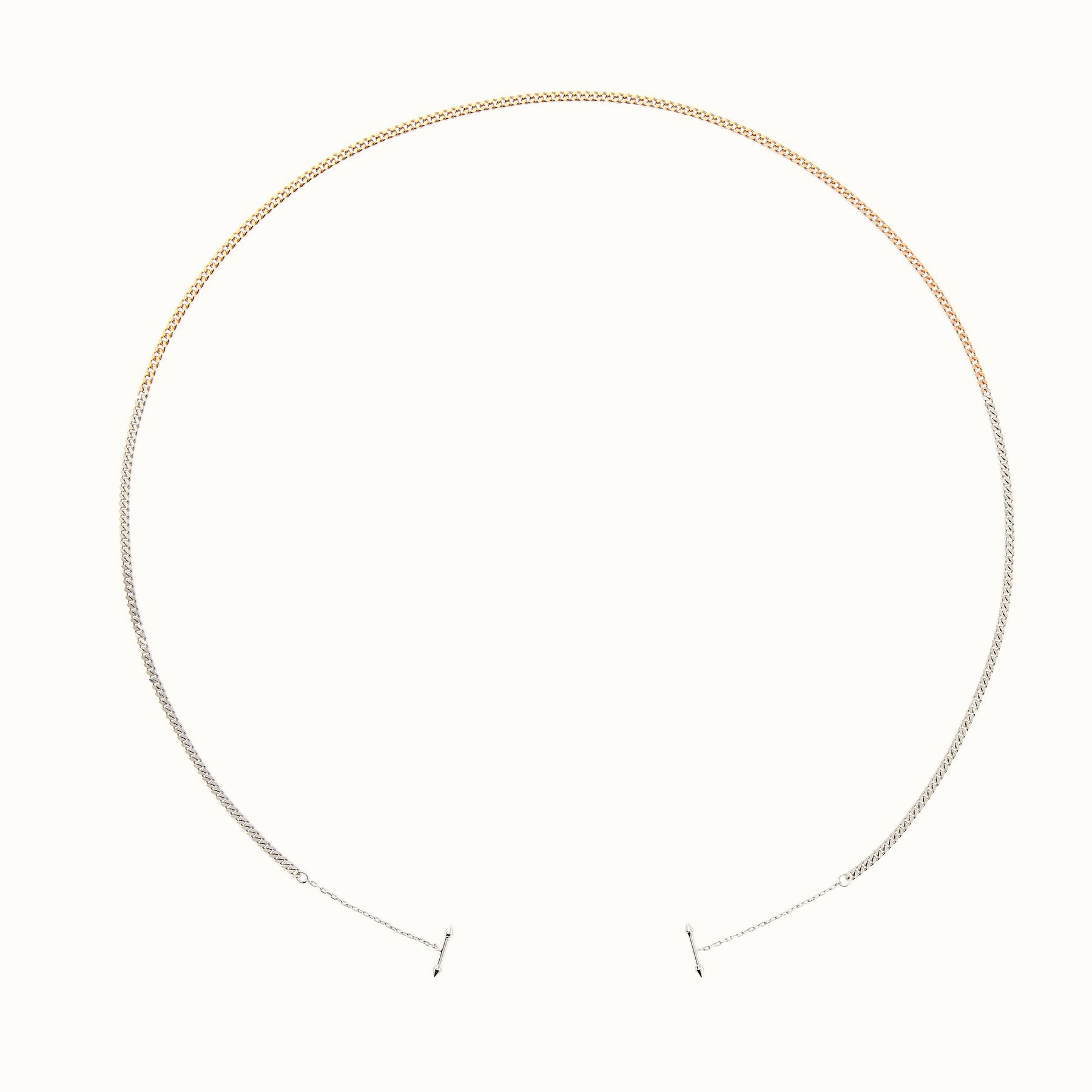 Capri Two Tone Frame Necklace