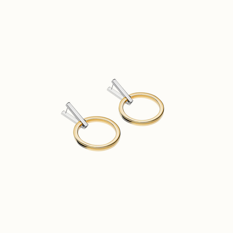 Antonia Two Tone Hoop Earrings