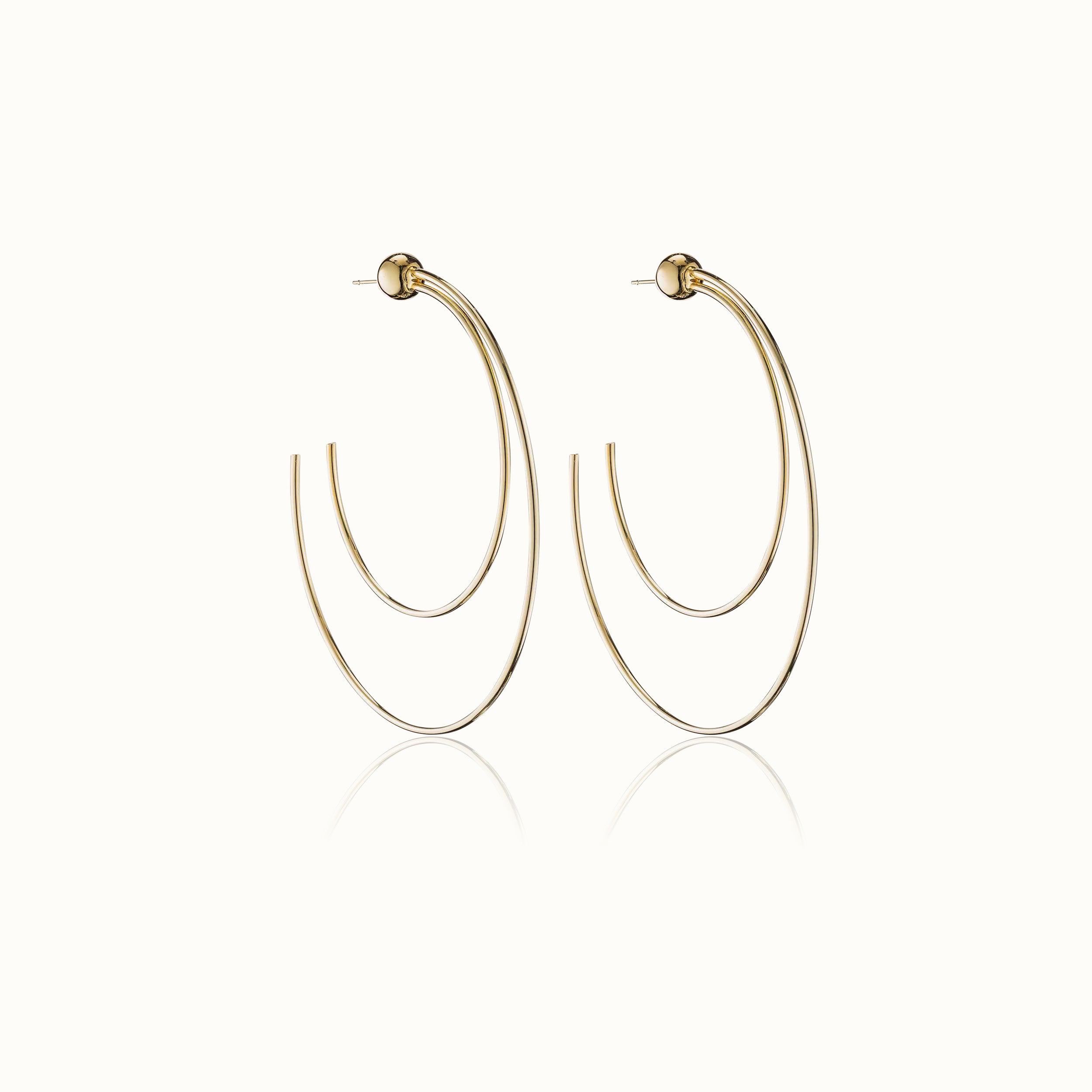 Sfera Due Hoop Earrings