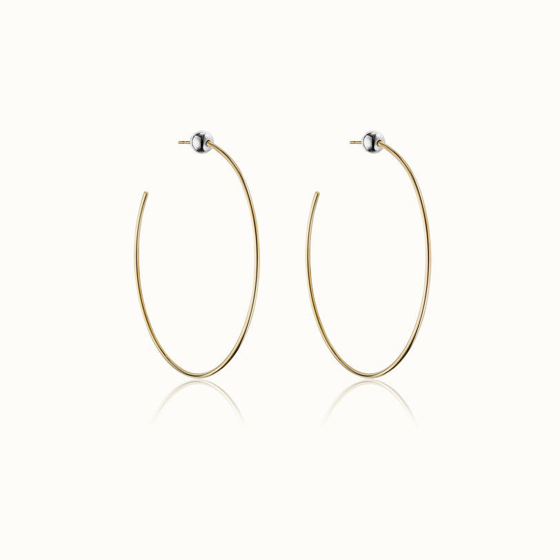 Sfera Two Tone Hoop Earrings 2.6
