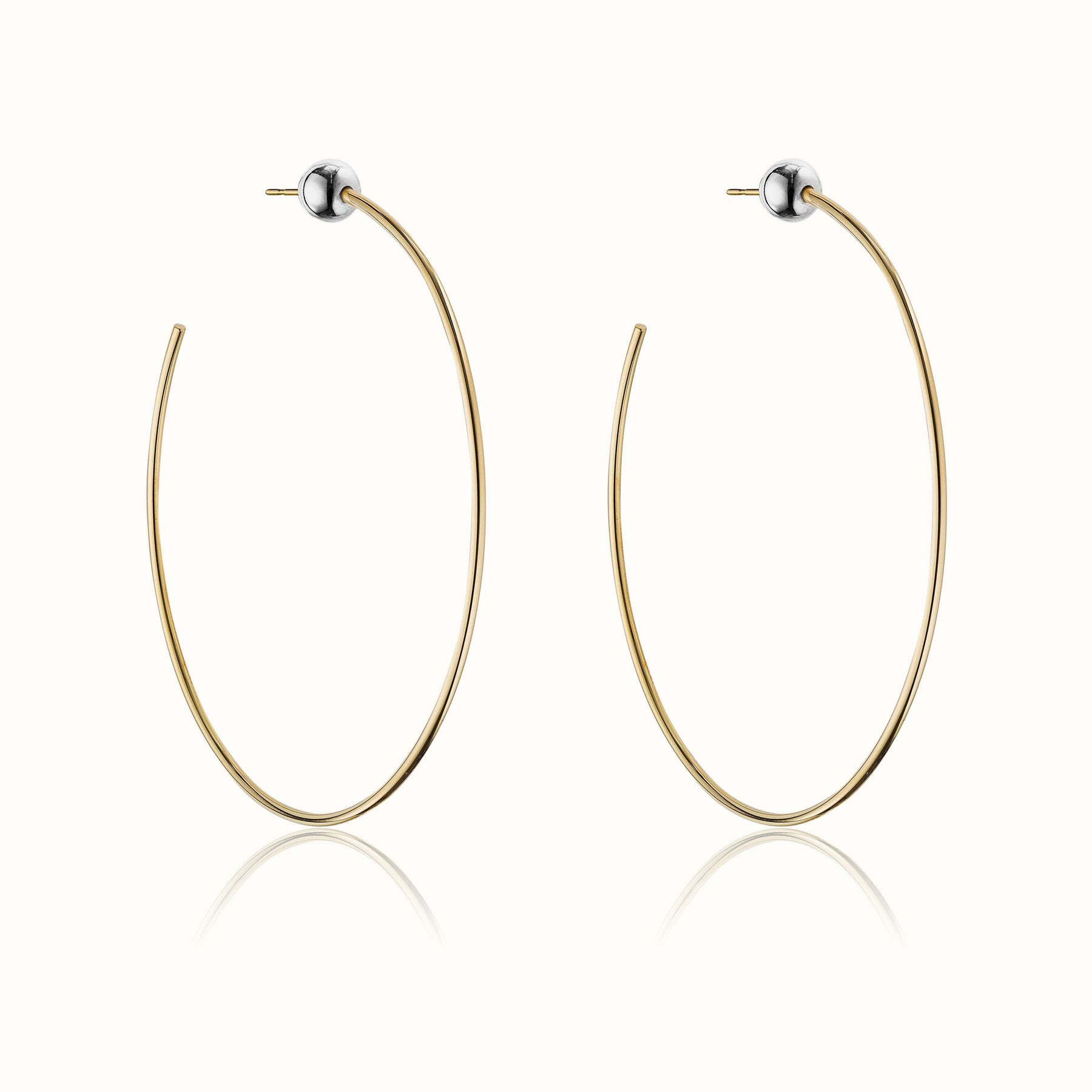 Sfera Two Tone Hoop Earrings 4.0