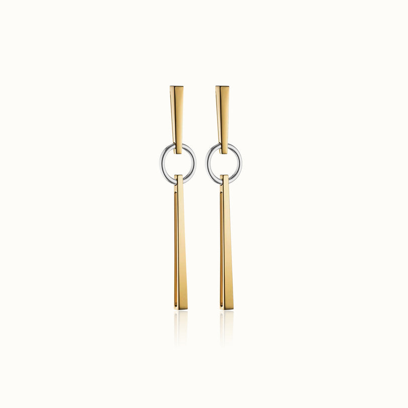 Bella Two Tone Earrings