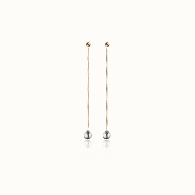 O'Hara Two Tone Drop Earrings