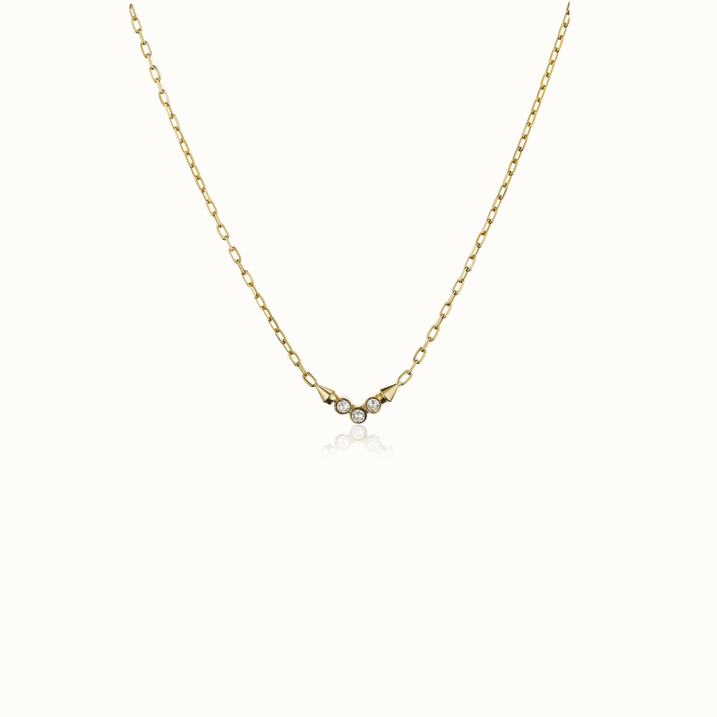 Mini Titan Tre Crystal Necklace