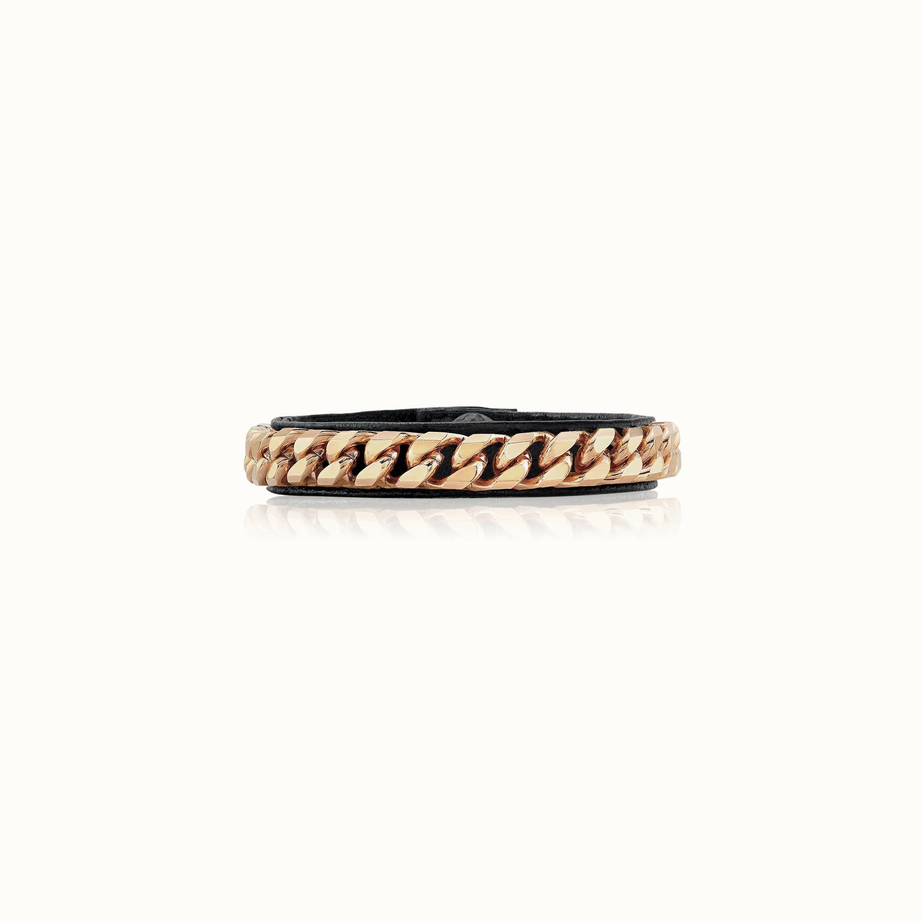 Monaco Single Wrap Bracelet - Rose Gold Finish