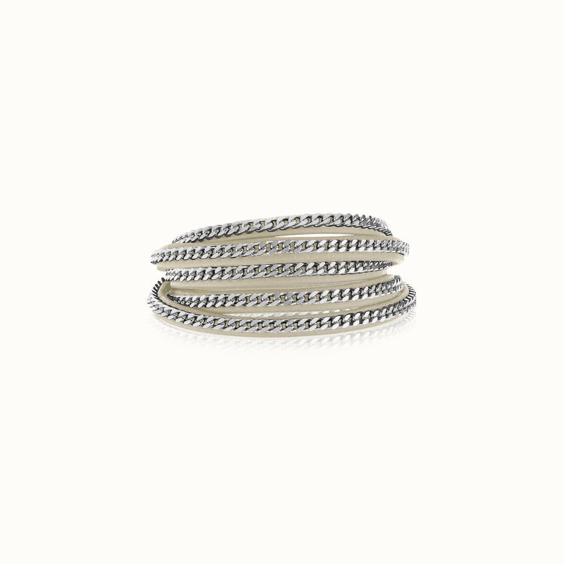 Capri Wrap Bracelet - Silver Finish