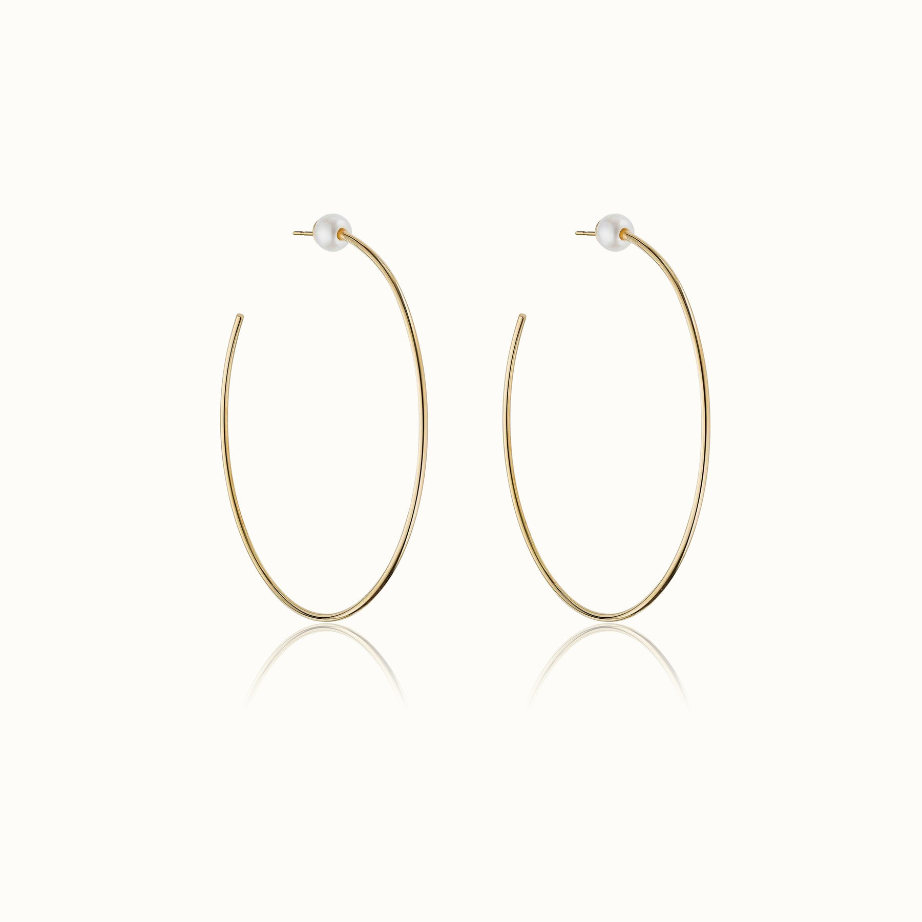 Sfera Pearl Hoop Earrings 2.6