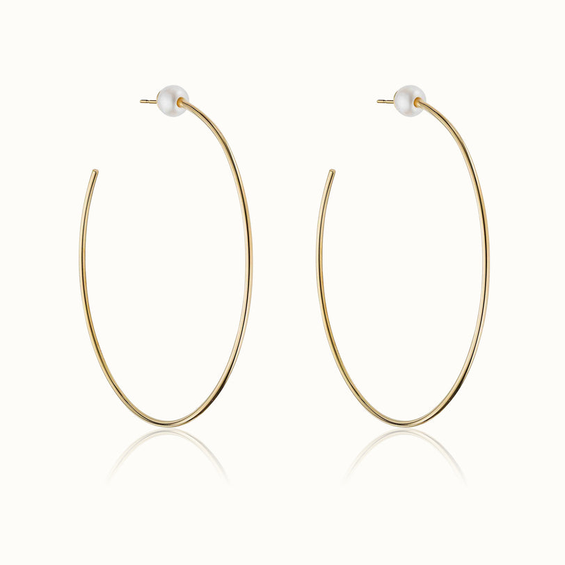 Sfera Pearl Hoop Earrings 4.0