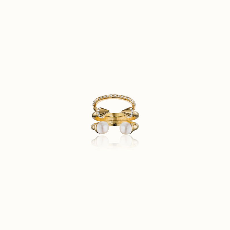 Ultra Mini Tre Stacked Ring