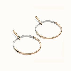 Selene Two Tone Hoop Earrings