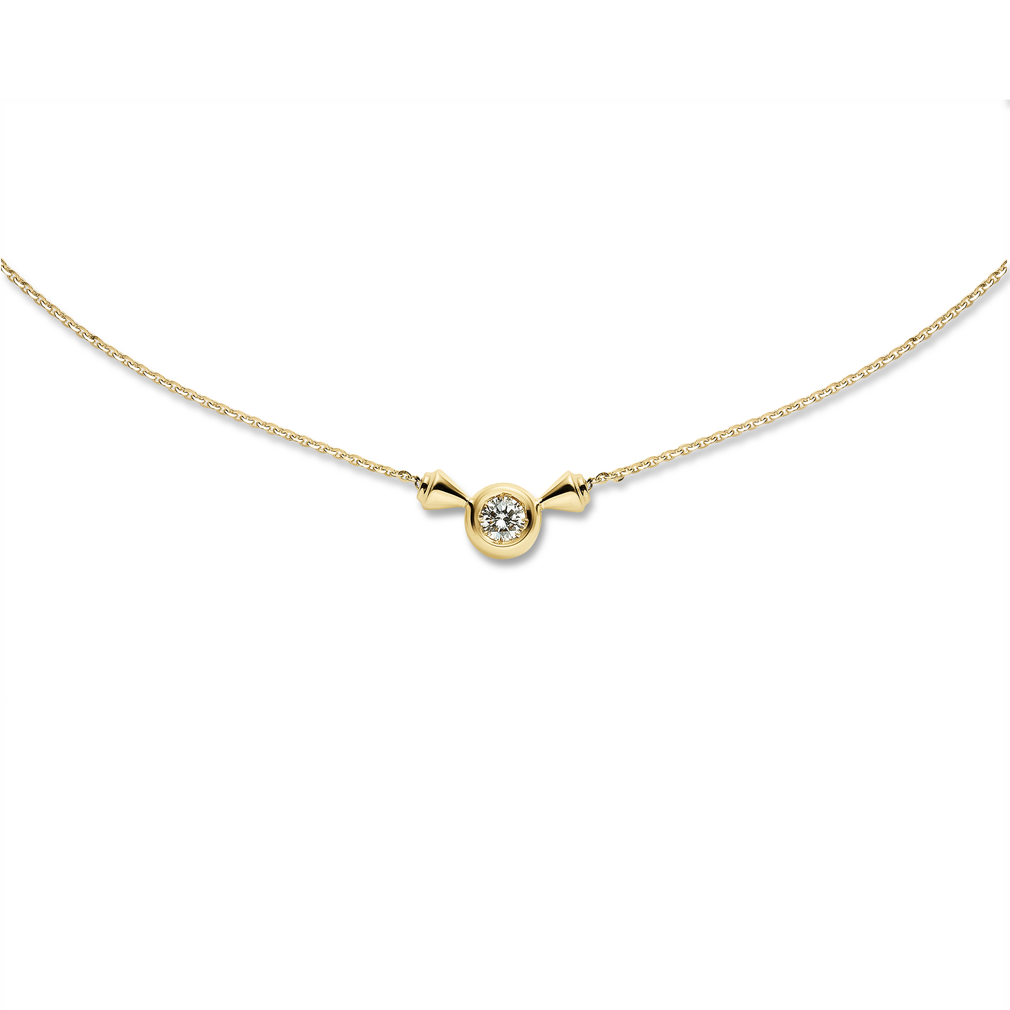Titan Solitaire Pendant 18k Necklace