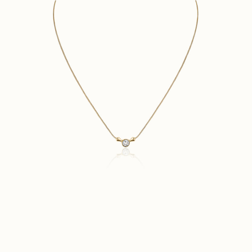 Titan Solitaire Pendant Necklace