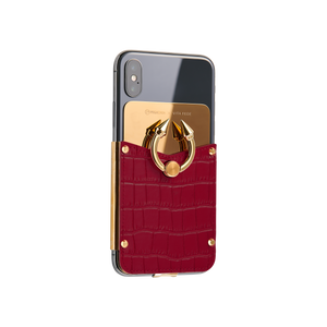 Titan Ring iPhone Case - Berry Red