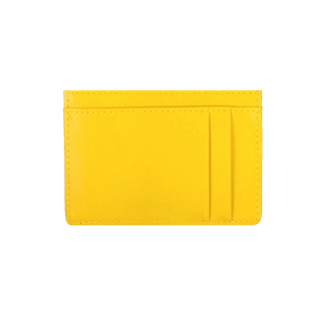 Inky Blue & Yellow leather card holder