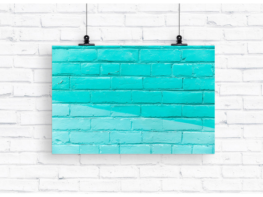 Aqua Brick Photography Backdrop -  - everydayco - everydayco.com.au