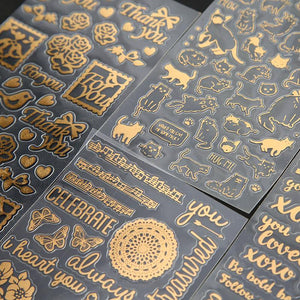 (4 Types) Hot Stamping Stickers