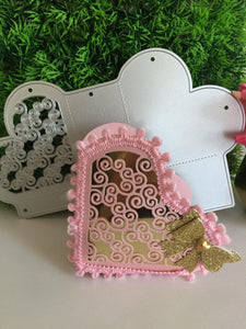 Lace Heart Box Dies