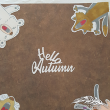 Load image into Gallery viewer, Hello Autumn Words Dies