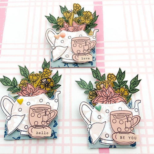 Teapot Cup Cake Stamps